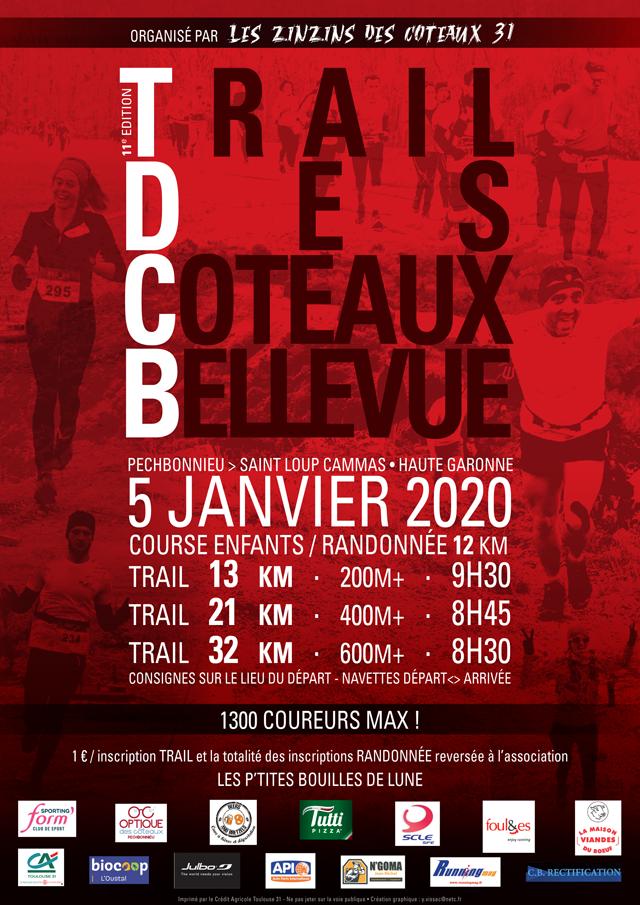 Affiche du trail des coteaux 2020