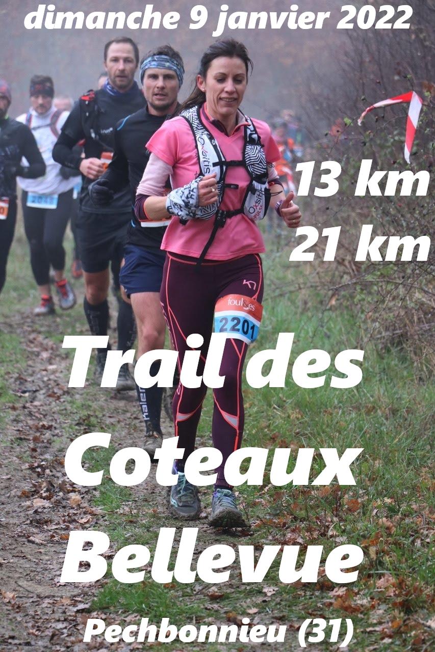 Affiche du trail des coteaux 2021
